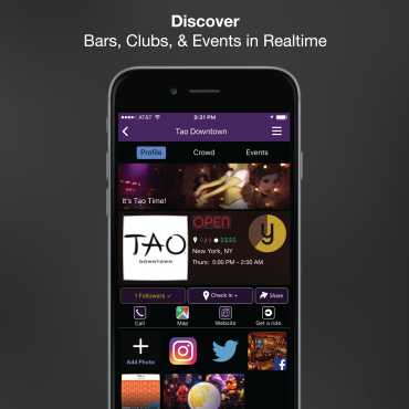 Yule Nightlife App Venue Profile Page