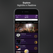 Yule Nightlife App Venue List Page