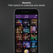 Yule Nightlife App Filters Page