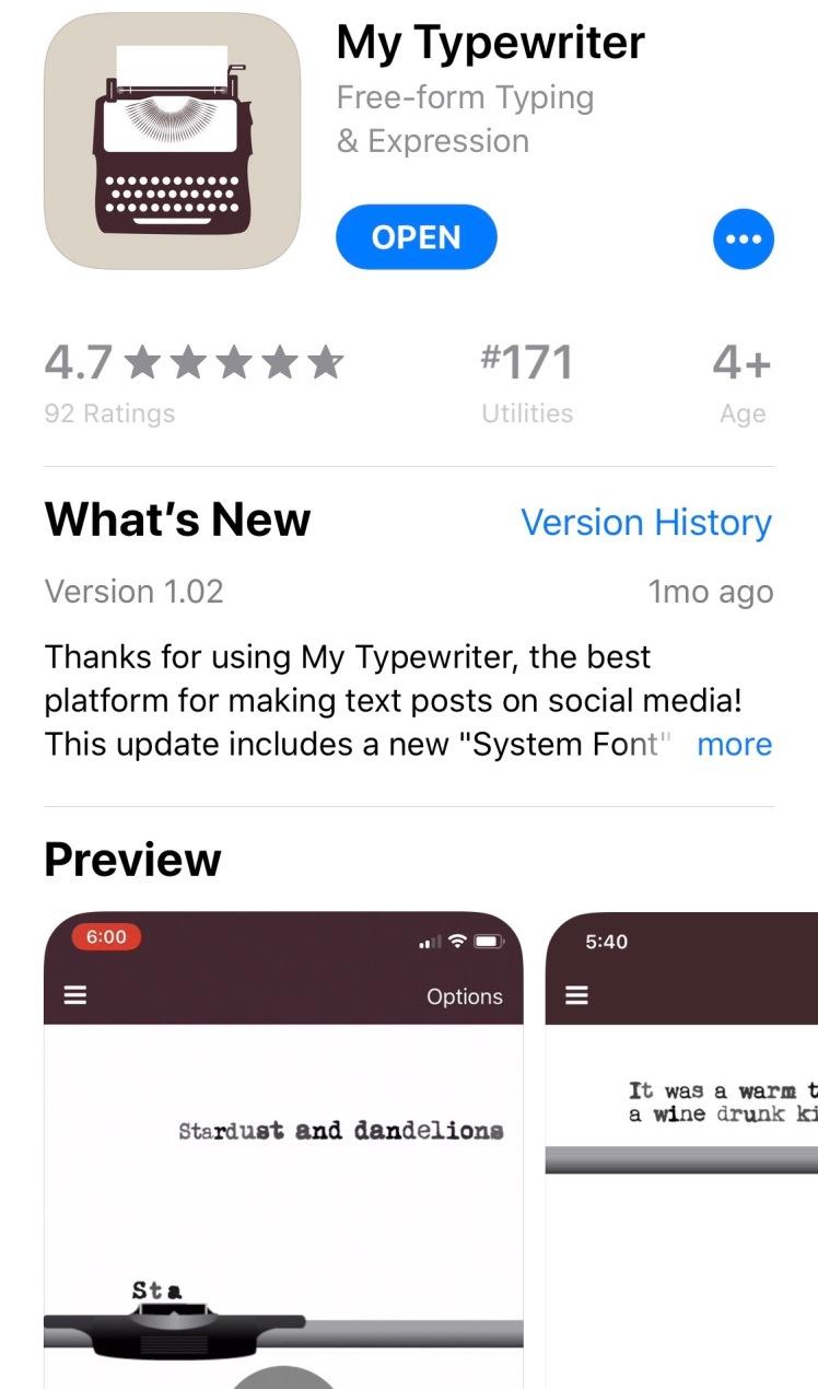 My-Typewriter-app-app-store