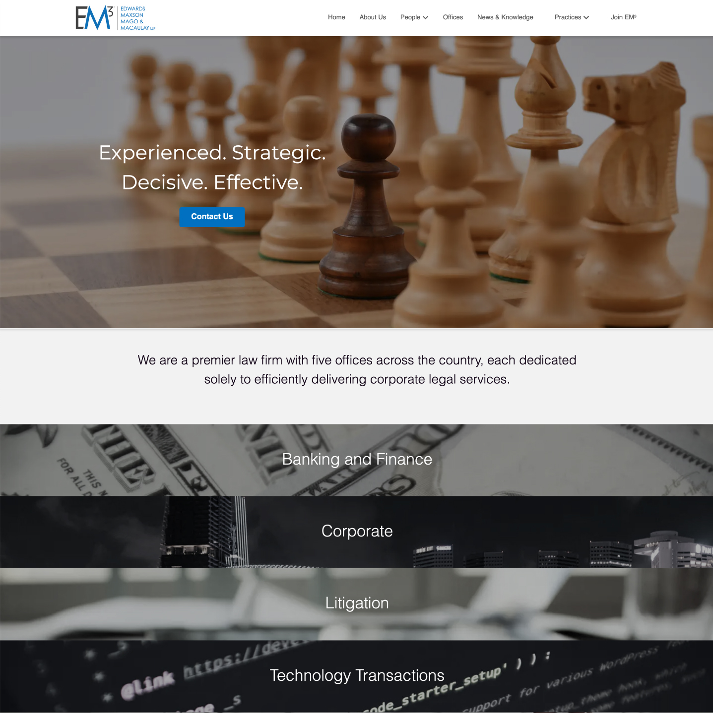 Sophisticated law firm website made by Winnona Partners