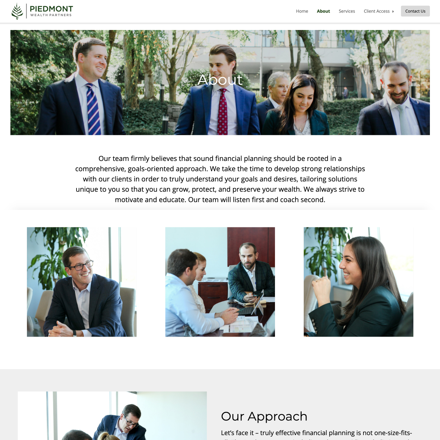 Insurance firm website developed by Winnona Partners